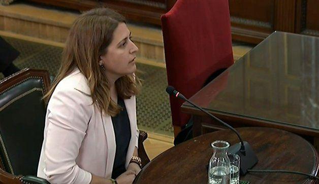 Marta Pascal, declarando en el Tribunal