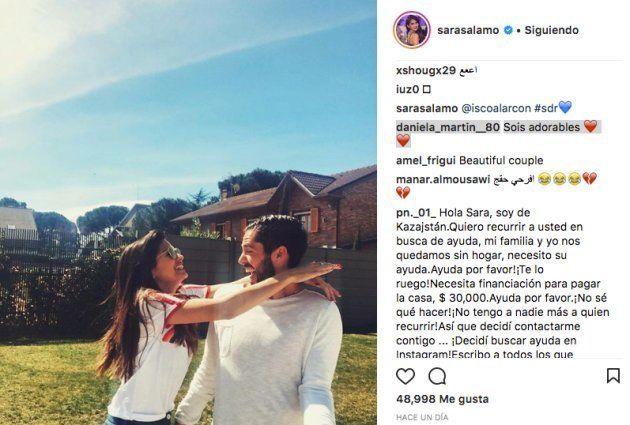 Críticas a Isco por esta foto junto a su novia para celebrar la