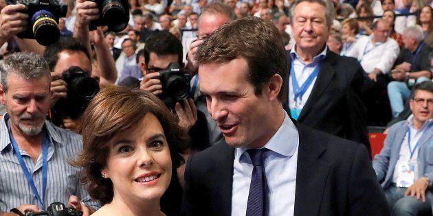 Santamaría y Casado durante el congreso del