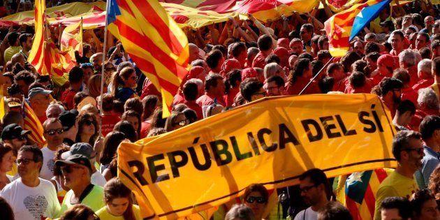 El independentismo mide su apoyo en la calle en una Diada centrada en los políticos en prisión y en el