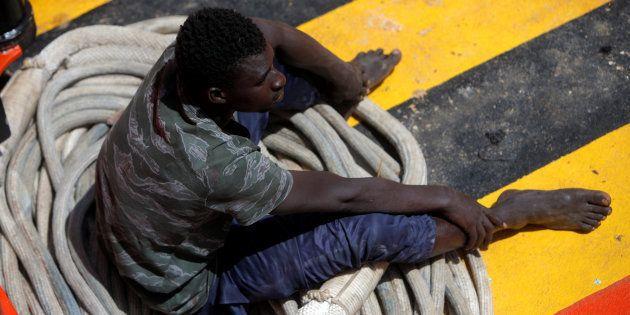 Un joven migrante, llegado el 21 de julio a