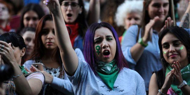 Marcha por el aborto legal en Buenos Aires