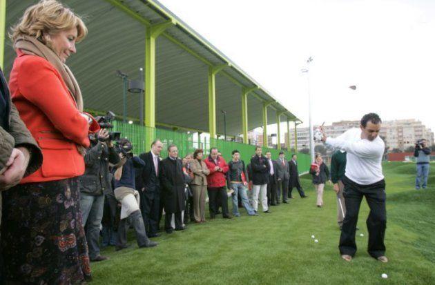 Aguirre, sobre el campo de golf del Canal: