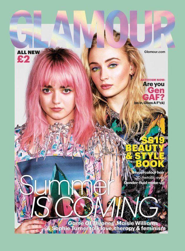 Maisie Williams y Sophie Turner, en la portada de la revista