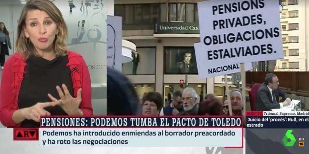 Yolanda Díaz, portavoz de En Marea, en 'Al Rojo