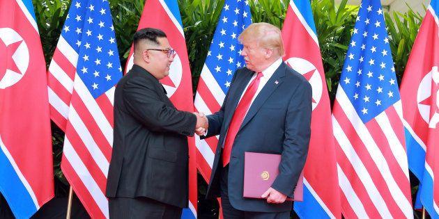 Donald Trump y Kim Jong Un, el pasado 12 de junio en