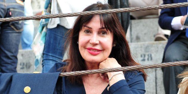 Carmen Martínez Bordiú en la plaza de toros de Las Ventas durante la feria de San