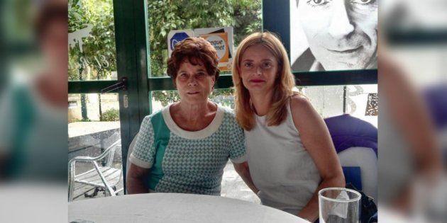 Ana Belén Pintado y su madre, Pilar, durante su