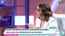 Toñi Moreno regaña a Julián Contreras por no hablarse con sus