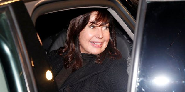 Carmen Martínez Bordiú, fotografiada durante el funeral de Carmen Franco en Madrid el 11 de enero de