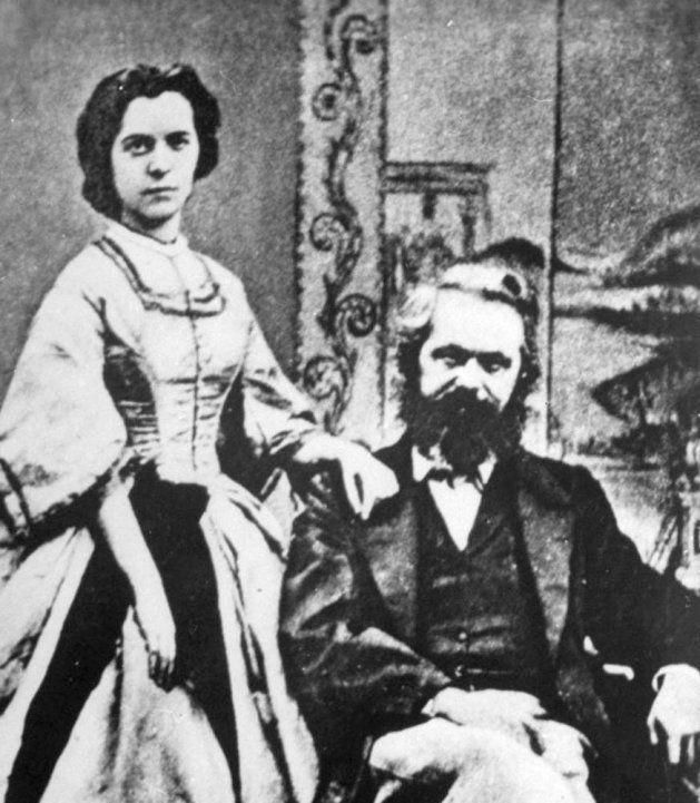 Posado de Karl Marx y su esposa, Jenny von