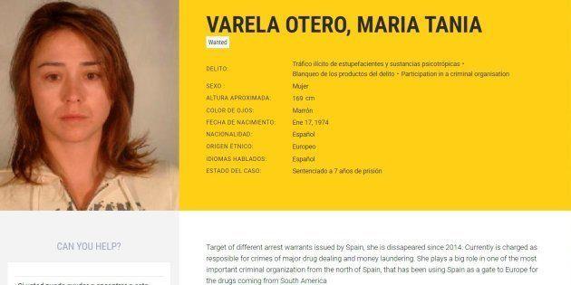 Imagen tomada de la web de Europol de la abogada MarÍa Teresa Varela Otero, detenida
