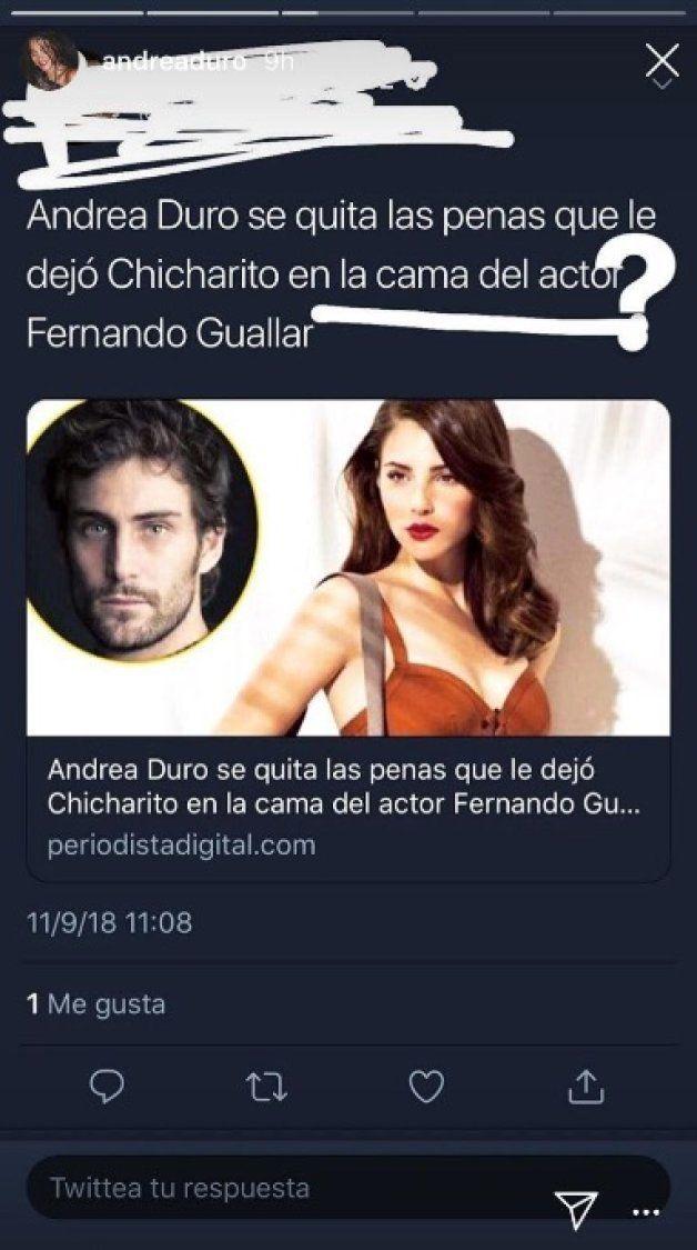 El repugnante titular que ha indignado a Andrea Duro: