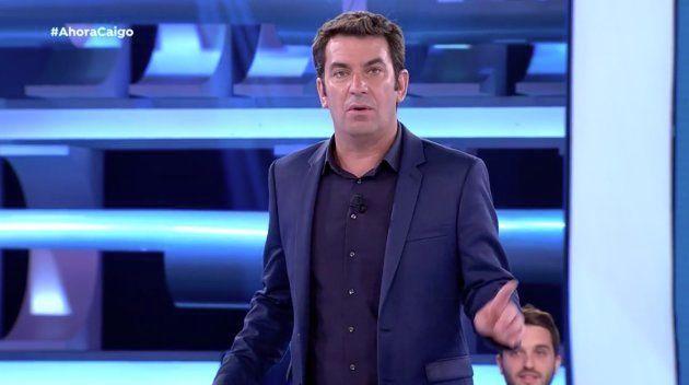 Arturo Valls, atónito por lo que no había ocurrido en 'Ahora Caigo' en siete