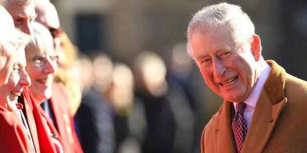 El príncipe Carlos, en febrero de