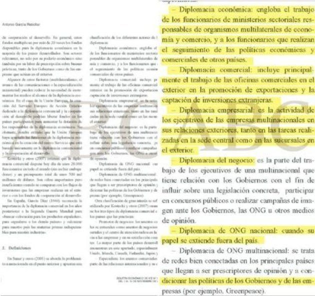 Los párrafos que supuestamente plagió Pedro Sánchez, según