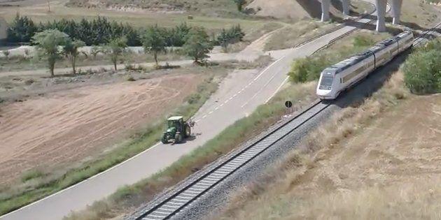 Captura del vídeo difundido por la plataforma Teruel
