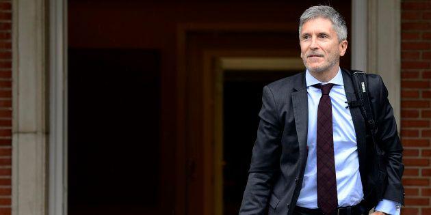 El ministro del Interior, Fernando Grande-Marlaska, en el palacio de La Moncloa en