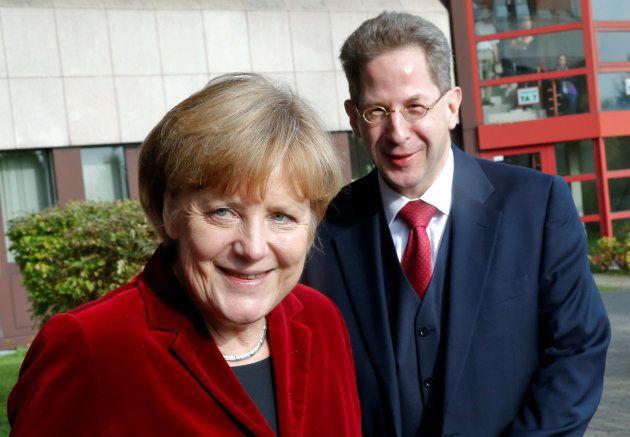 Angela Merkel y Hans Georg Maassen, juntos en Colonia, en