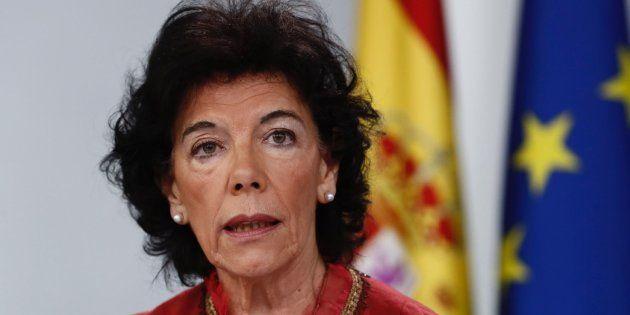 La portavoz del Gobierno y ministra de Educación, Isabel Celáa, este