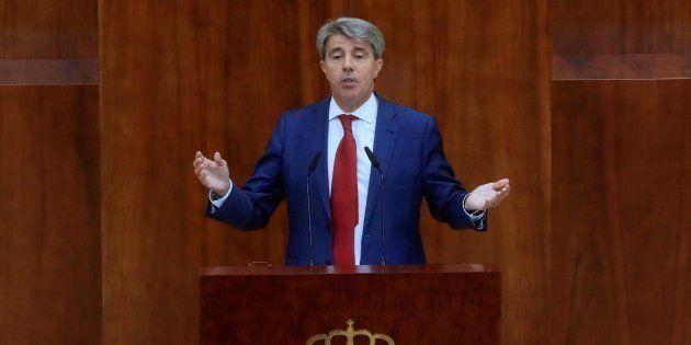 El presidente de la Comunidad de Madrid, Ángel Garrido, durante su