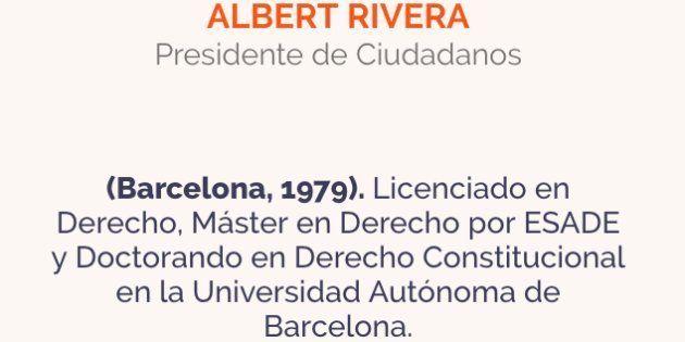 La Autónoma de Barcelona niega que Albert Rivera sea doctorando en