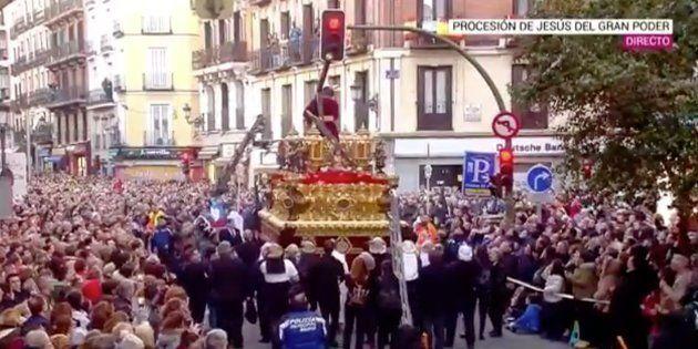 La cruz del Jesús del Gran Poder de Madrid