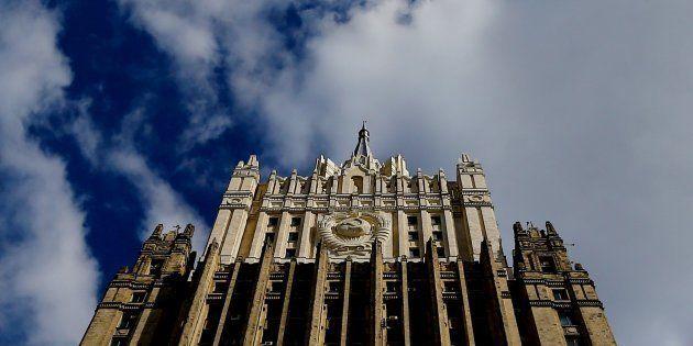 El Ministerio de Exteriores de Rusia, en Moscú, en una imagen de