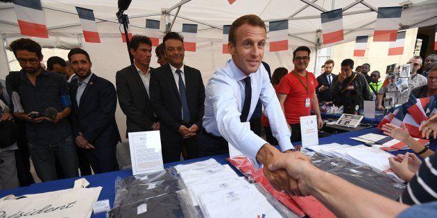 El presidente francés, Emmanuel Macron, en los actos de patrimonio en los jardines del palacio Elíseo,...