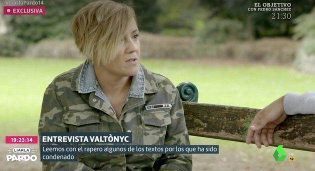 La pregunta de Cristina Pardo que ha dejado a Valtonyc balbuceando durante ocho segundos en 'Liarla