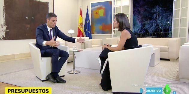 Cachondeo con un detalle en esta imagen de Pedro Sánchez en 'El