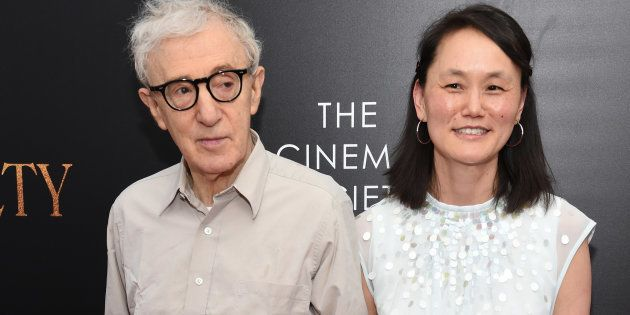 Woody Allen y Soon-yi en el estreno de la película 'Café