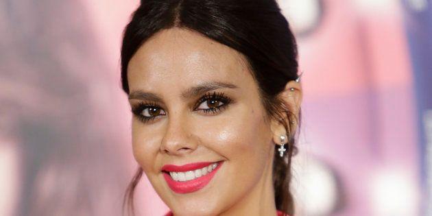 La presentadora Cristina Pedroche, durante la promoción de la película 'Sin rodeos' en Madrid el 22 de...