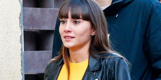 Aitana Ocaña, en Sant Climent de Llobregat (Barcelona), el 9 de febrero de