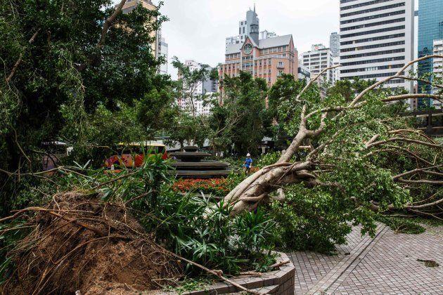 Efectos del tifón Mangkhut en la ciudad de Hong