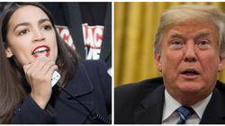 Alexandria Ocasio-Cortez le pega a Trump el corte de su