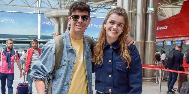 Alfred García y Amaia Romero, en Lisboa el 13 de mayo de