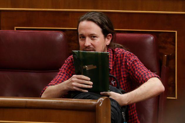 El líder de Podemos, Pablo Iglesias, en el
