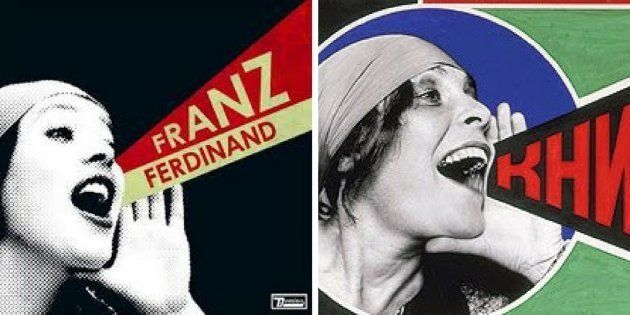 A la izquierda, 'You could have it so much better', de Franz Ferdinand (2005). A la derecha, cartel de...