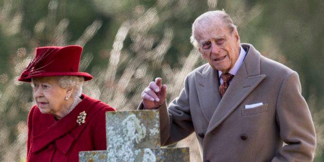 La reina Isabel II y el príncipe Felipe, en febrero de