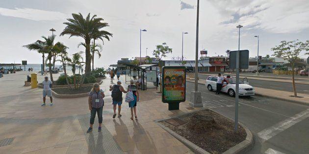 Imagen de la zona comercial donde se han producido los hechos, en la Playa del