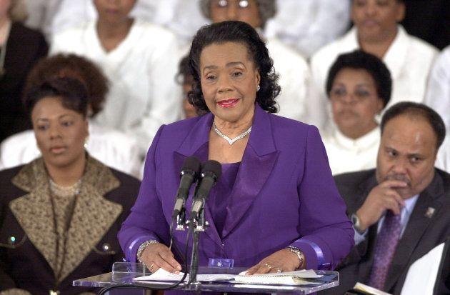 Coretta Scott King, viuda de Martin Luther King y activista por los derechos