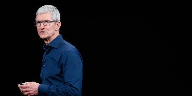 Tim Cook, consejero delegado de Apple, en la presentación de los nuevos productos en Cupertino