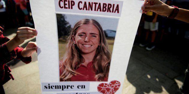 Concentración con motivo de la trágica muerte de la golfista Celia
