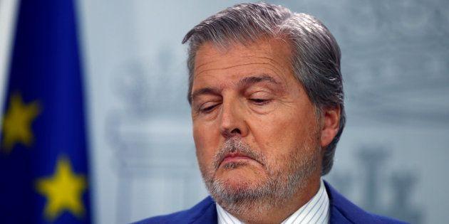 El ministro de Educación y portavoz de Gobierno, Íñigo Méndez de Vigo, en el palacio de La