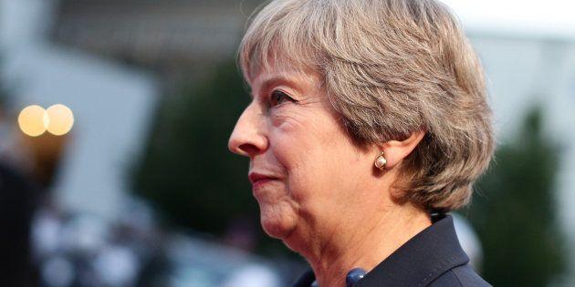 Theresa May, a su llegada a la cumbre de