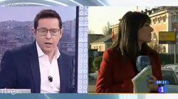 La tremenda pillada a una reportera de 'Los Desayunos de TVE' en pleno