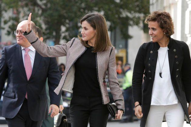 La primera aparición de la reina Letizia tras su rifirrafe con doña