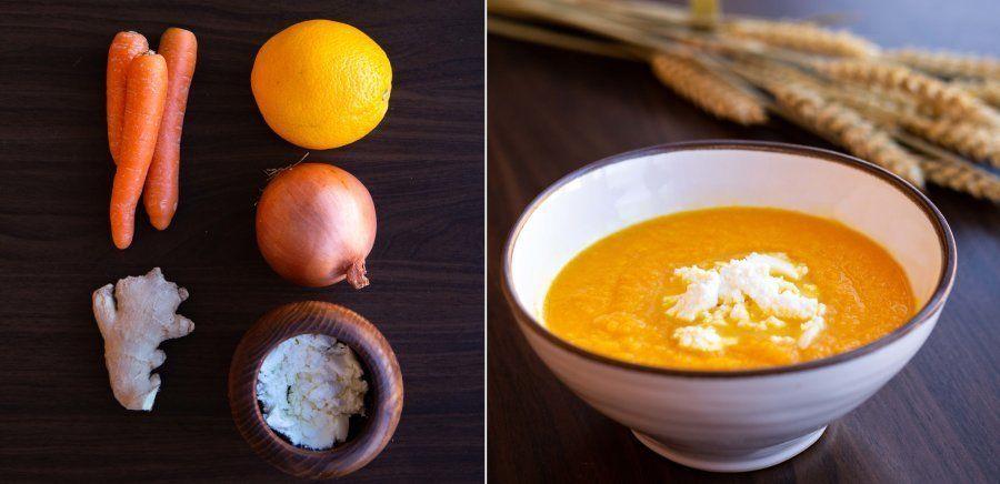 Recetas fáciles: crema de zanahoria y