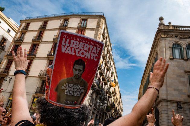 Una protesta en Barelona a favor de la libertad de